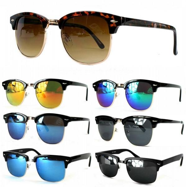 Designer Wayfarer Sonnenbrille Retro 50 Jahre Damen Herren Rechteckig Etui XQJFbo