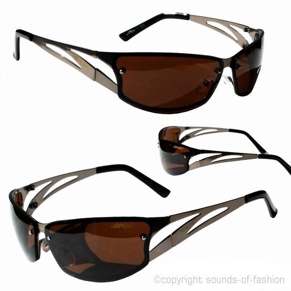coole herren sonnenbrille braun sport racing designer eyewear viper v825br ebay. Black Bedroom Furniture Sets. Home Design Ideas