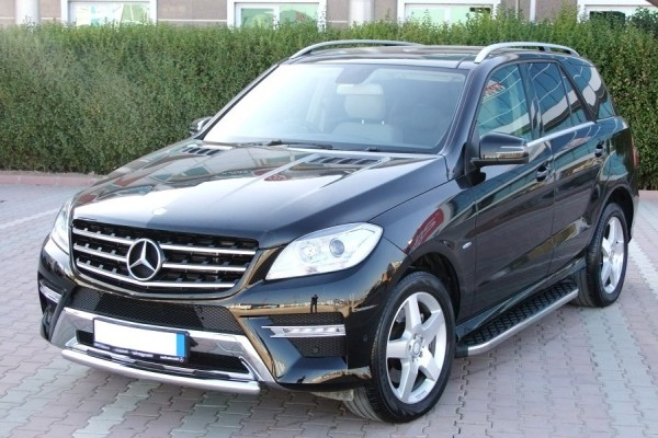 mercedes ml w166 ab baujahr 2011 aluminium trittbretter. Black Bedroom Furniture Sets. Home Design Ideas