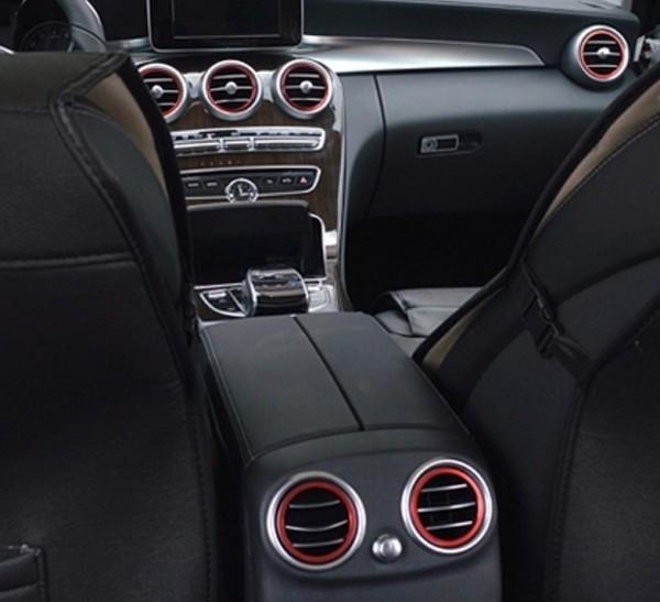 7x Mercedes Lüftungsringe Zierringe Blenden Ringe AMG Rot C Klasse W205 GLC X253
