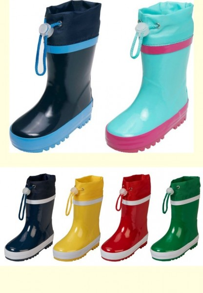 playshoes stiefel gef ttert m dchen jungen kinder baby gummistiefel schuhe 20 28 ebay. Black Bedroom Furniture Sets. Home Design Ideas