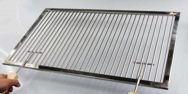 premium grillrost edelstahl 60 x 40 cm griffe grill rost 6mm stab grillkamin ebay. Black Bedroom Furniture Sets. Home Design Ideas