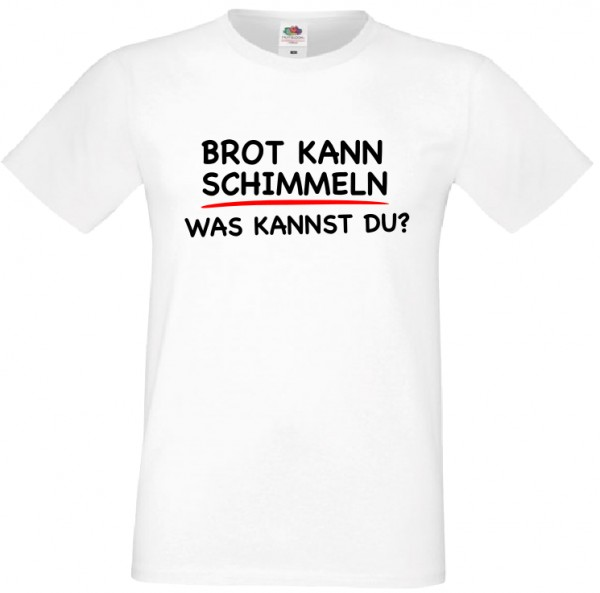 herren t shirt brot kann schimmel was kannst du spr che. Black Bedroom Furniture Sets. Home Design Ideas