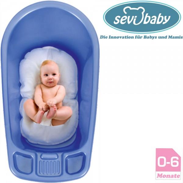 Baby BadeNetz Multi-Funktionales Waschnetz Einlage Sevibaby Badewannensitz BLAU