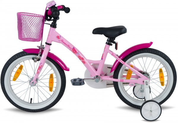 prometheus m dchenfahrrad 16 zoll rosa pink mit st tzr der r cktritt ab 5 jahre ebay. Black Bedroom Furniture Sets. Home Design Ideas