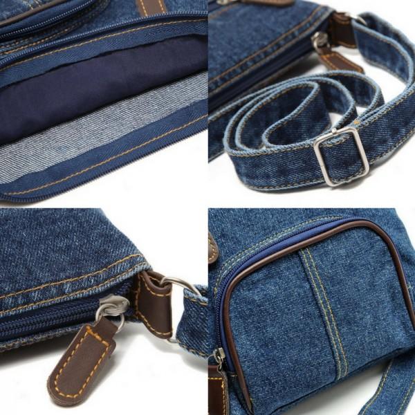 Lässige UmhängetascheSchultertascheHandtasche im Jeans bzw Denim-Style