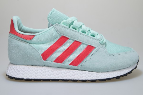Details about Adidas Forest Grove W Turquoise/Red CG6124 Trainers Shoes  Women Originals