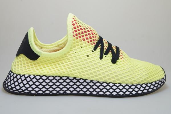 Dettagli su Adidas Deerupt Runner Giallo Neon CG5943 Scarpe da Ginnastica Originals Uomo