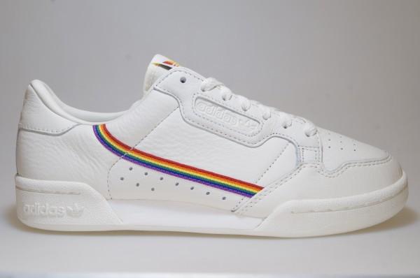 Details zu Adidas Continental 80 Pride EF2318 weiß Sneaker Originals Männer Schuhe
