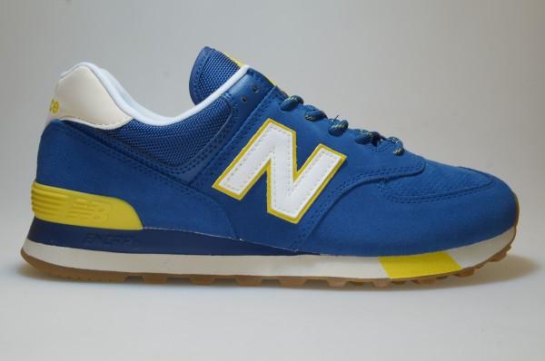 Details zu New Balance ML 574 JHP blau/gelb Schuhe Sneaker Männer  766741-60-5