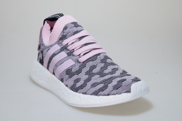 af3cf2c33420b Adidas Nmd R2 Pk W BY9521 Rose Primeknit Chaussures Baskets Original ...
