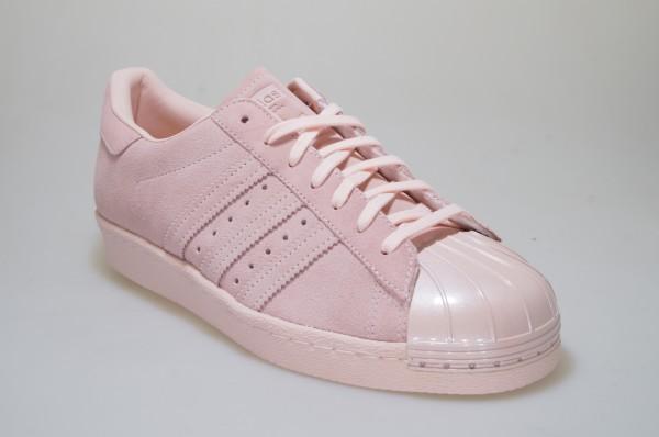 Detalles de Adidas Superstar de los Años 80 Metal Toe W CP9946 Rosa Zapatillas Deportivas