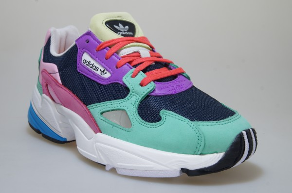 Details about Adidas Falcon W GreenBluePink Cg6211 Trainers Shoes Women