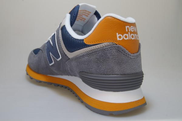 Details about New Balance Ml 574 Muc GreyBlueOrange Shoes Trainers Men 722221 60 122