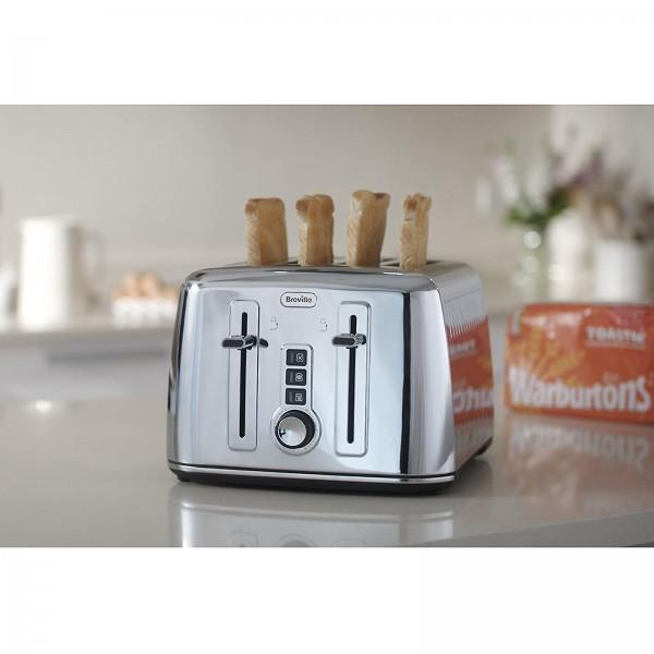 breville vtt571 perfect fit collektion 4 scheiben toaster edelstahl 2000w 5011773056014 ebay. Black Bedroom Furniture Sets. Home Design Ideas