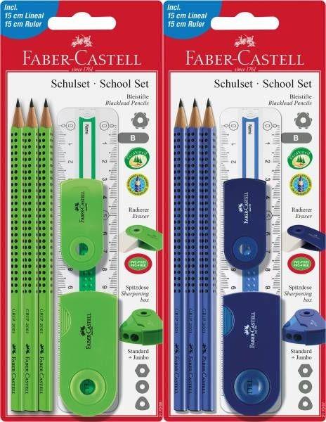silber 6-tlg. Faber-Castell Bleistift-Set Sleeve
