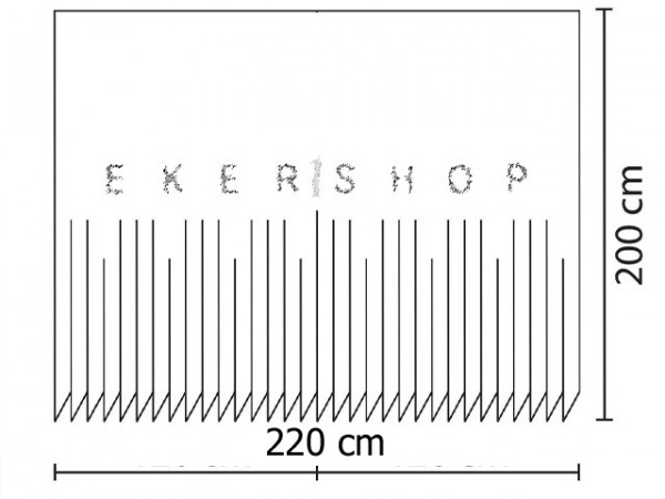 HOCHWERTIGER TEXTIL DUSCHVORHANG 240x200cm Stein im Meer Türkis Schwarz /& Ringe