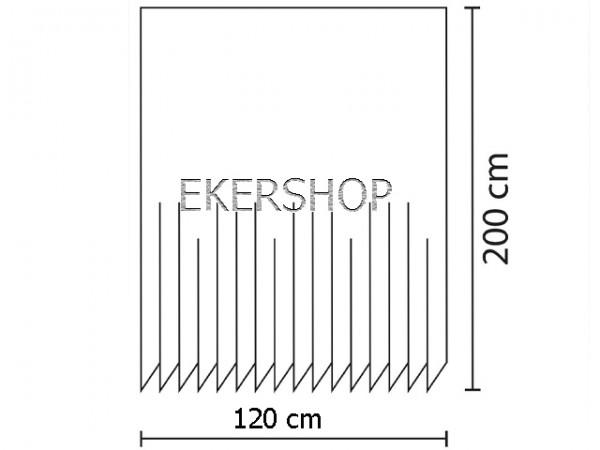 Ekershop Digitaldruck Qualit/ät Textil Duschvorhang Wannenvorhang Police LINE 120x200cm inkl Ringe