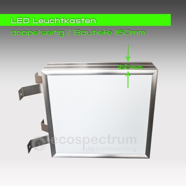 led leuchtwerbung leuchtkasten leuchtreklame zweiseitig 2 seitig 500 x 500 mm ebay. Black Bedroom Furniture Sets. Home Design Ideas