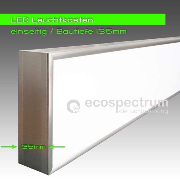 led leuchtwerbung leuchtkasten leuchtreklame einseitig 1 seitig 2000 x 500 x 135 ebay. Black Bedroom Furniture Sets. Home Design Ideas