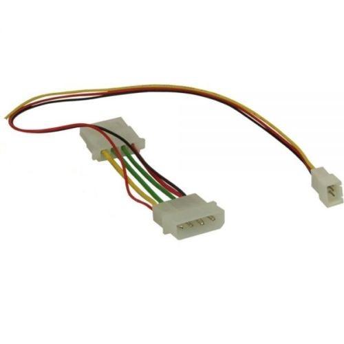l fter fan stromkabel 2 pin zu 4 pol 4 pin molex kabel adapter 29 cm ebay. Black Bedroom Furniture Sets. Home Design Ideas