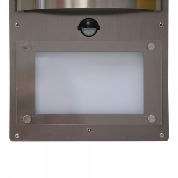 grafner edelstahl wandlampe hausnummer beleuchtet bewegungsmelder led ebay. Black Bedroom Furniture Sets. Home Design Ideas