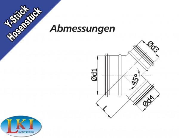 wickelfalzrohr hosenst ck y st ck 45 mit. Black Bedroom Furniture Sets. Home Design Ideas