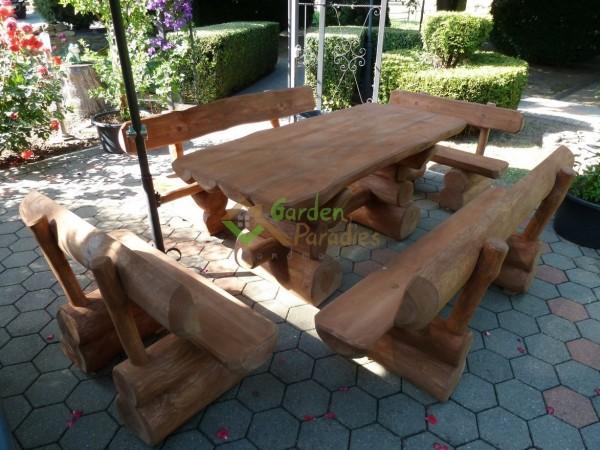 Gartenmöbel aus Baumstämmen ** HANDARBEIT** Rustikal Antik | eBay